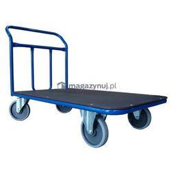 Wózek platformowy jednoburtowy. Poręcz spawana. Wym. 1200x700mm (Ładowność: 600kg)