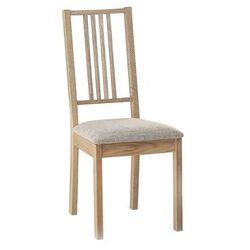Drewniane Krzesło Tapicerowane Beżowe Krzesło Do Jadalni Kuchni Chelsea