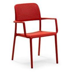 Krzesło z podłokietnikami Bora czerwone