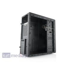 LOGIC Obudowa komputerowa AT A33 Midi Tower, USB 3.0 , bez zasilacza (czarna)
