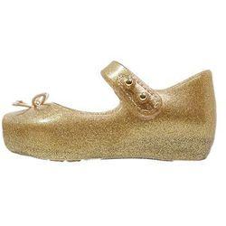 Melissa MINI BALLET Baleriny z zapięciem gold glitter