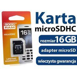 - Karta pamięci GOODRAM micro SDHC 16GB