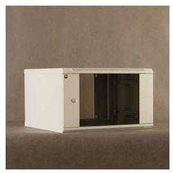 Netrack szafa wisząca dwusekcyjna 19'', 6U/550 mm - popiel, drzwi przeszklone