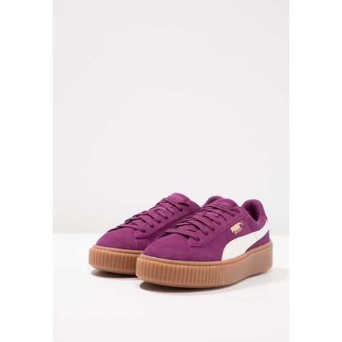 Buty damskie sneakersy Buty Puma Basket Platform Snk Jr 363906 03 FIOLETOWY