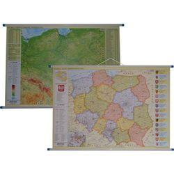 Polska mapa ścienna dwustronna administracyjno-fizyczna 1:1 000 000