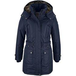 Płaszcz zimowy bonprix ciemnoniebieski