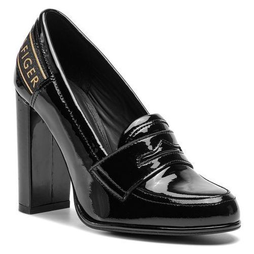 be4689467b2a5 Półbuty TOMMY HILFIGER - Iconic Patent Loafer FW0FW04003 Black 990 ...