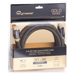 Kabel SKYMASTER HDMI - HDMI Gold 2m