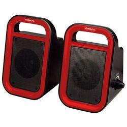 Głośniki OMEGA Speakers 2.0 OG-119B (43095) Czarno-czerwony