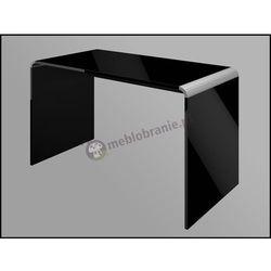 Biurko czarne wysoki połysk Murano 130