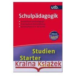 Studien-Starter-Pack Schulpädagogik, 3 Bde.