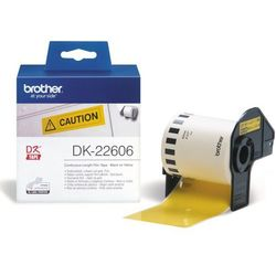 Taśma foliowa ciągła żółta DK-22606 do drukarek Brother serii QL (62mm x 15.24m)