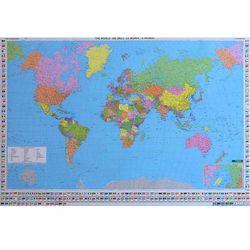 Świat mapa ścienna polityczna w arkuszu 1:35 000 000