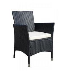 Fotel polirattanowy - czarny
