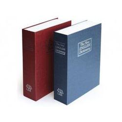 Skrytka książka na dokumenty, pieniadze bordowa