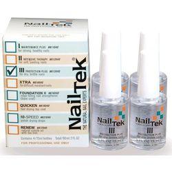 Nail Tek Formuła III Protection Plus 4 x 15 ml - CZTEROPAK