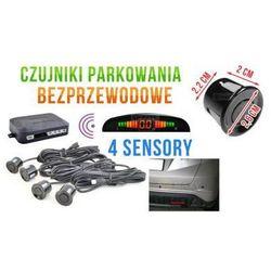 Bezprzewodowe Czujniki Parkowania (4-sensory + sygnalizator) - CZARNE.