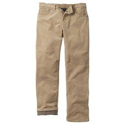 Spodnie sztruksowe ocieplane bonprix beżowy