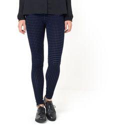 Spodnie legginsy z dzianiny z nadrukiem w pepitkę
