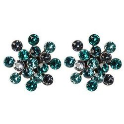 Konplott MAGIC FIREBALL Kolczyki blue/green antique/silvercoloured