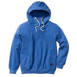 Bluza z kapturem Regular Fit bonprix niebieski melanż