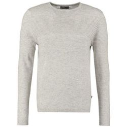 Jack & Jones JJCOOTTO REGULAR FIT Sweter light grey melange