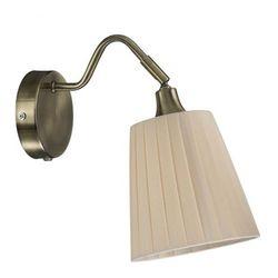Kinkiet LAMPA ścienna MJOLBY 104326 Markslojd klasyczna OPRAWA abażurowa beżowa
