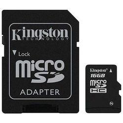 karta pamięci Kingston microSDHC 16GB + adapter SD