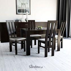 Zestaw do jadalni stół S-44 80x120 do 165 + 4 krzesła K-32a