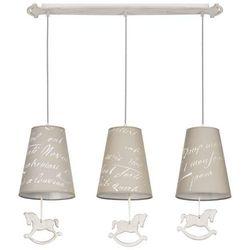 LAMPA wisząca PONY 6380 Nowodvorski dekoracyjna OPRAWA abażurowa LISTWA dziecięca wzorki koniki beżowa