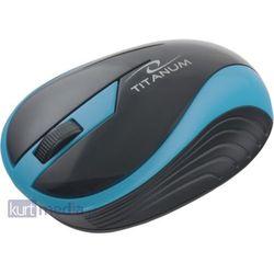 TITANUM Bezprzewodowa Myszka Optyczna 3D TM113T | 2.4 GHz | 1000 DPI | Turkusowa
