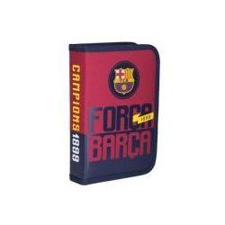 Piórnik pojedynczy z wyposażeniem 2 klap. FC-88 Barcelona