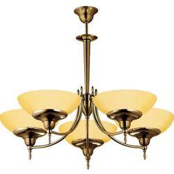 Onyx 690 lampa wisząca patyna połysk/opal 5x60W E27 Amplex