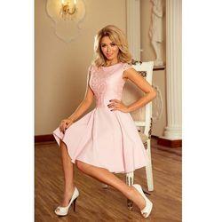 a8e98dd3d9 suknie sukienki rozkloszowana sukienka z dekoltem rozowa sara (od ...