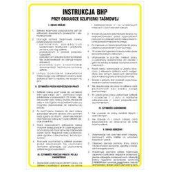 Instrukcja BHP przy obsłudze szlifierki taśmowej