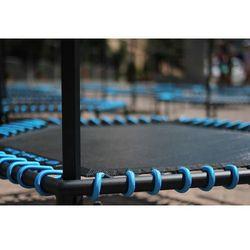 Profesjonalna Trampolina Fitness z uchwytem 126 cm Fit and Jump - niebieski