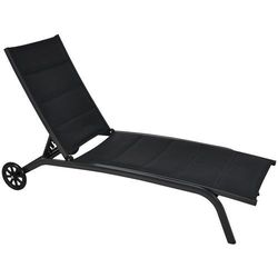 Leżak ogrodowy aluminiowy Ibiza Black Home&Garden 118861