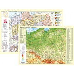 POLSKA - mapa ADMINISTRACYJNA/FIZYCZNA 1:700 000