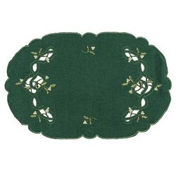 Forbyt Obrus świąteczny jemioła, zielony, 30 x 45 cm