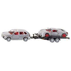 Zabawka SIKU Super samochód osobowy z przyczepą