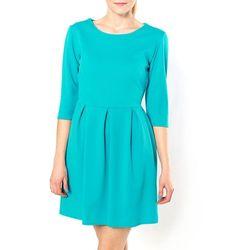 Rozkloszowana sukienka, rękaw 3/4 XL+