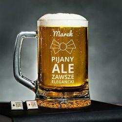 Pijany, ale elegancki - Personalizowany Kufel - Kufel do piwa