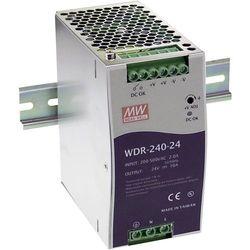 Zasilacz na szynę DIN Mean Well WDR-240-24, 10 A, 240 W, 1 x