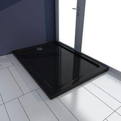 vidaXL Brodzik prysznicowy prostokątny ABS czarny 70 x 100 cm Darmowa wysyłka i zwroty