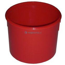 Okrągły pojemnik plastikowy bez pokrywy 3l (Kolor: czerwony)