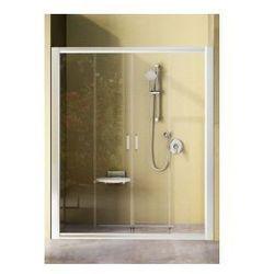 Drzwi prysznicowe NRDP4 Ravak Rapier 140cm, białe + grape 0ONM0100ZG