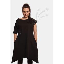 Asymetryczna sukienka z ćwiekami