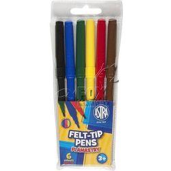 Flamastry pisaki mazaki ASTRA 6 kolorów