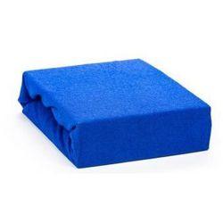 Prześcieradło frotte z gumką 200 x 220cm Niebieskie