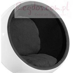 Fotel Kula biały/czarny